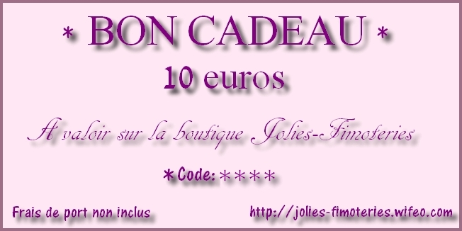 bon cadeau 10 euros boutique jolies. Black Bedroom Furniture Sets. Home Design Ideas